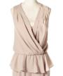 トップス部分:カシュクール&ペプラム裾